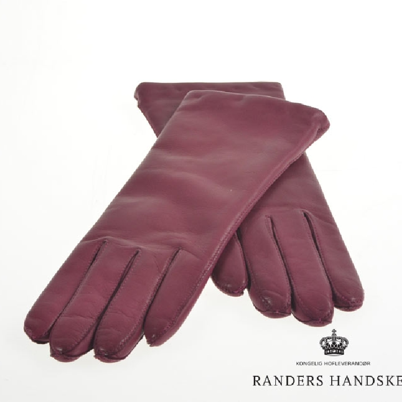Randers handsker dame skindhandske - Blomme farvet