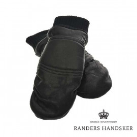Skindluffer fra Randershandsker - Sort Lammeskind