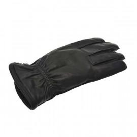 Sort herre handske med fleecefor - Randers handsker