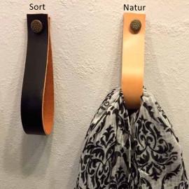 Læderknager med trykknap
