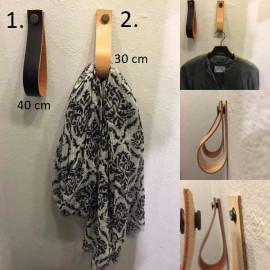 30 cm læder knag med...