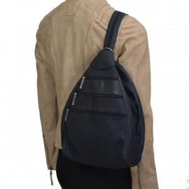 blå skindrygsæk - rygsæk og skuldertaske