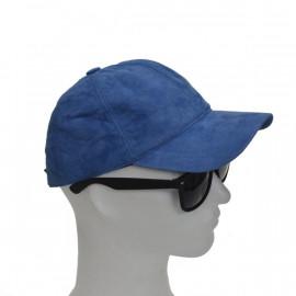 smart lys blå ruskinds cap....