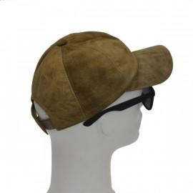 Grøn ruskinds cap - Freja skind