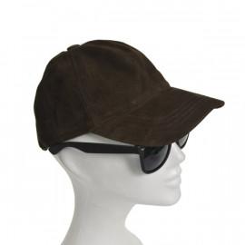 Smart brun ruskinds cap i...
