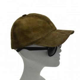 Smart grøn ruskinds cap i...