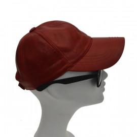 lækker rød skind cap i...