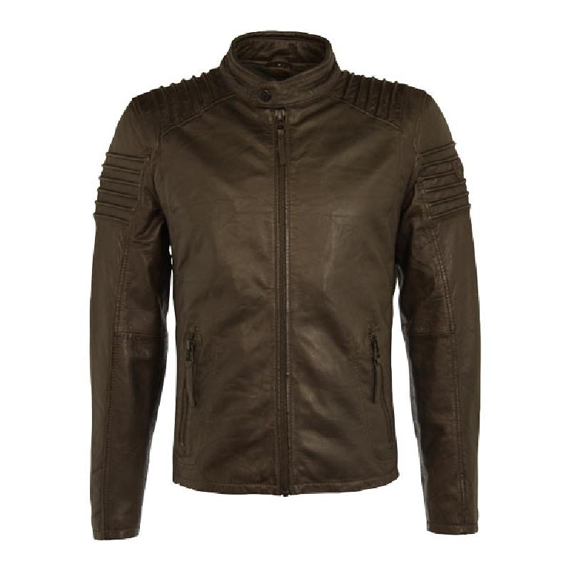 copper slim fit skindjakke fra Gipsy - Tilbud