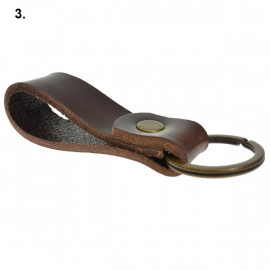 Læder nøglering - kernelæder