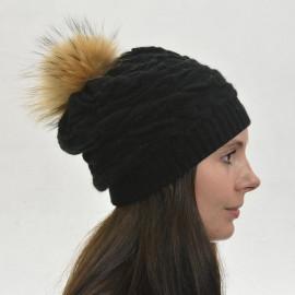 sort strikhue - Cashmere, angora og uld - Pelskvast