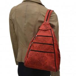 rygsæk i skind - Perforeret mønster- freja skind