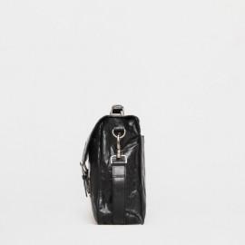 Retro skoletaske i bøffelskind - Montana - Tilbud
