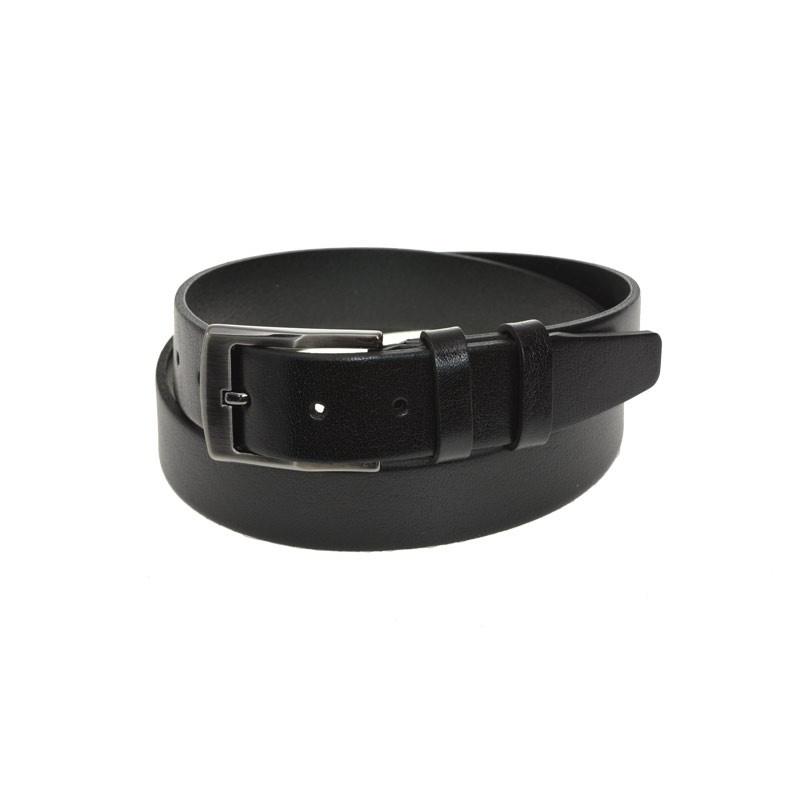adabc3111be Sort læderbælte 35 mm -Læderbælte i ægte kernelæder - Køb nu