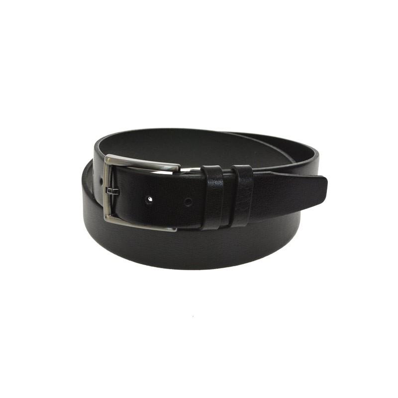 sort skindbælte style aston 35 mm kernelæder