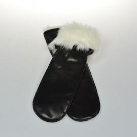 skindluffe med kaninfor - Randers handsker
