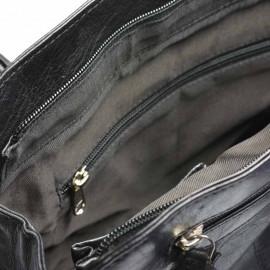 sort skuldertaske bøffelskind - Tilbud