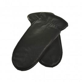 sort skindluffe med ægte rulamsfor