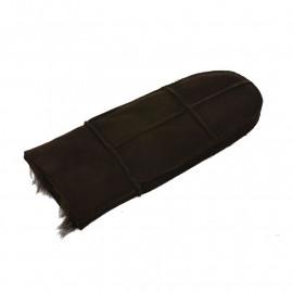 Mørk brun dame rulamsluffe - super tilbud