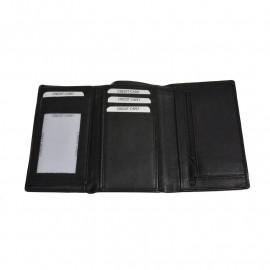 Sort skindpung - 11 kort-seddel og møntrum Tilbud