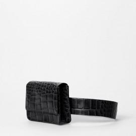 Treats bæltetaske sort crocopræget skind - Petra