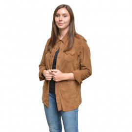 Ruskindsskjorte - gederuskind - Super Tilbud