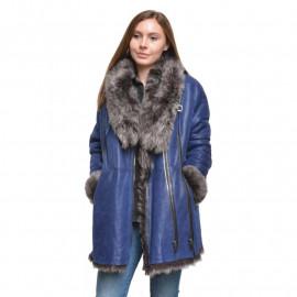 Blå rulamsjakke - Toscana rulam - Unik - Få stk