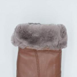 dame rulamshandske - Brun - Varm vinterhandske
