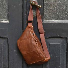 bæltetaske i det blødeste cognac lammeskind