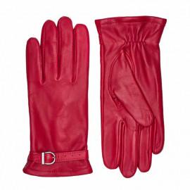 Rød skindhandske - Randers handsker