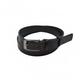 Dame læderbælte i sort kernelæder - 25mm