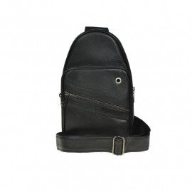 Sort crossbody taske - Model festival - Bred rem