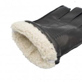 Skindhandske med perlelam - Randers handsker