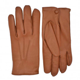 Herre skindhandske 406002 - Cognac - Randers handsker