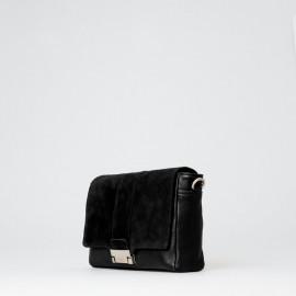 Sort crossbody taske fra Treats - Alma - skind og ruskind