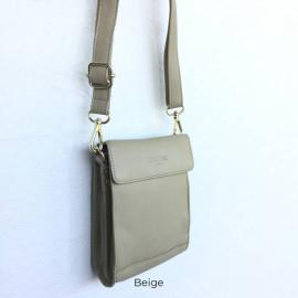 Beige crossbody taske fra Corium - 170025