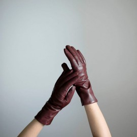 Dame skindhandske - Wine - Randers handsker