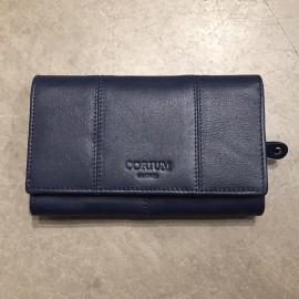 Mørk blå Corium damepung - plads til mobil, kort mønt og sedler