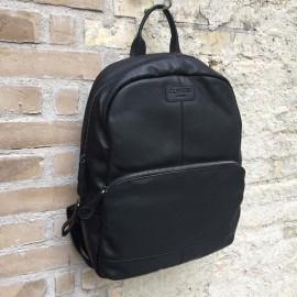 sort pc rygsæk i kalveskind
