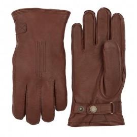 Varm brun herrehandske Hestra - 20310