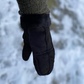 sort dame rulamsluffe med sort foer - blød og varm