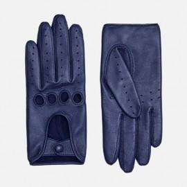Royal Blue Metallic dame kørehandske - Randers hansker