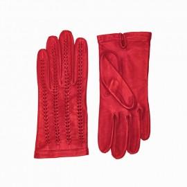Uden foer - Rød damehandske - Randers handsker - 200007