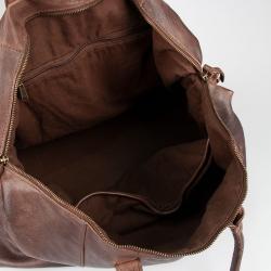 Stor weekendtaske - Buttle fra Montana  - Brun bøffellæder