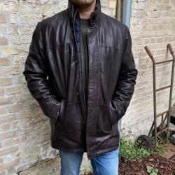 Vinter læderjakke - Herre - Molltan 2196 - Mørk brun
