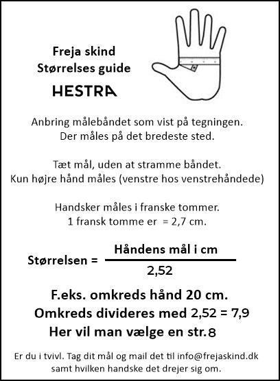 hestra handsker størrelsesguide